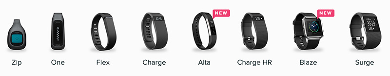 Fitbit-lineup