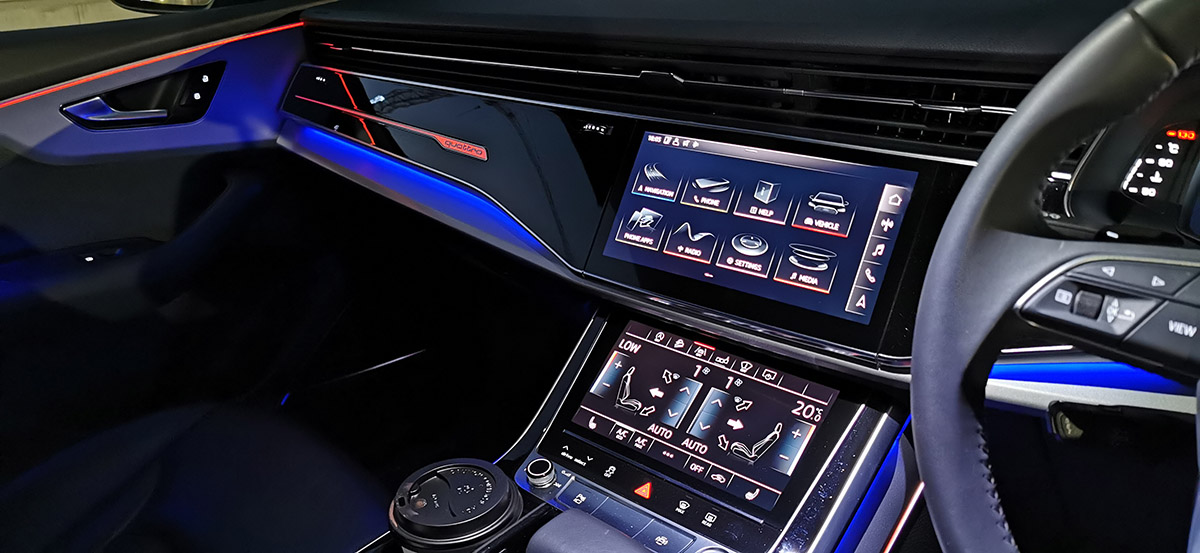 Audi Q8 touchscreen